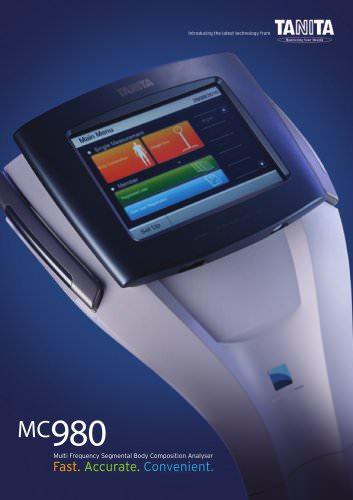 MC-980MA EXTRA-HIGH CAPACITY SEGMENTAL BODY COMPOSITION ANALYSER