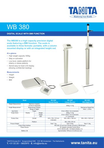 WB-380 DIGITAL WEIGHING SCALE