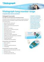 Vitalograph lung monitor range