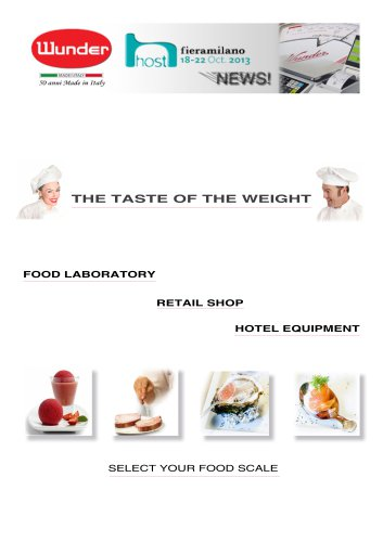 CATALOGUE WUNDER FOOD - RETAIL