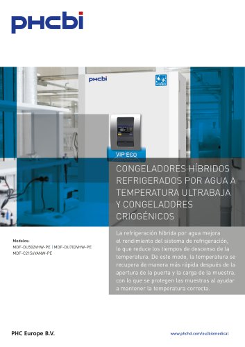 Congeladores Híbridos Refrigerados por Agua