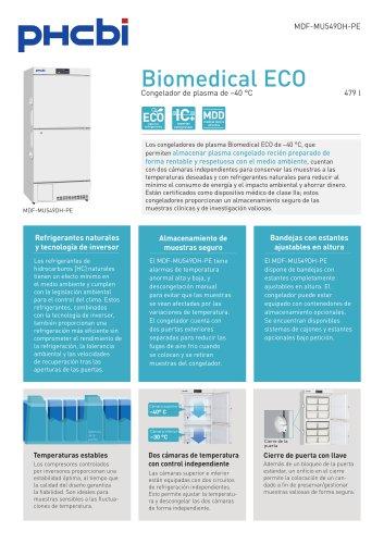 Congeladores de plasma Biomedical ECO de –40 °C