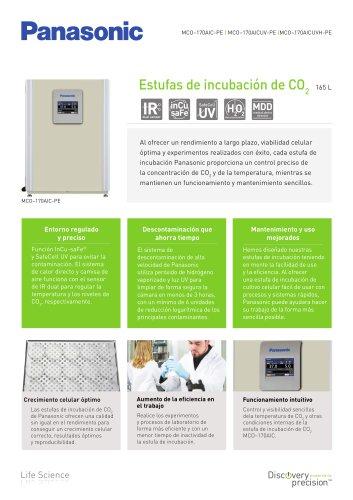 MCO-170AIC IncuSafe Estufas de incubación de CO2