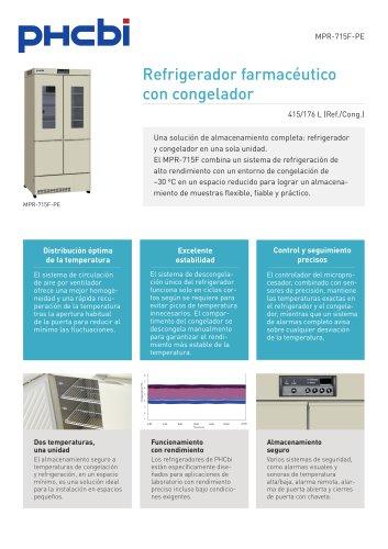MPR-715F-PE Refrigerador farmacéutico con congelador