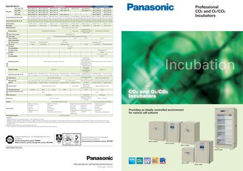 Professional CO2 and O2/CO2 Incubators