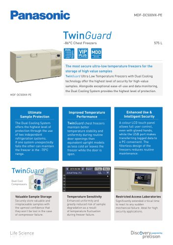 TwinGuard -86C chest freezer MDF-DC500VX