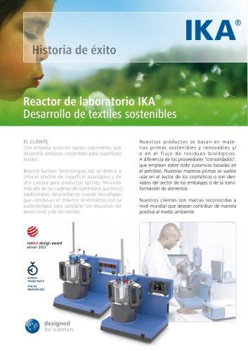 Reactor de laboratorio IKA® Desarrollo de textiles sostenibles