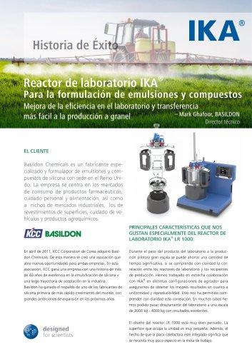 Reactor de laboratorio IKA® Para la formulacion de emulsiones y compuestos