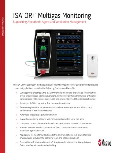 ISA ™  OR+ ™  Multigas Monitoring