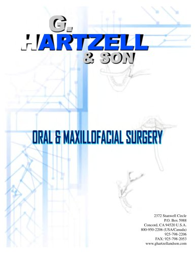 For additional instruments, please see the G. Hartzell & Son General Catalog