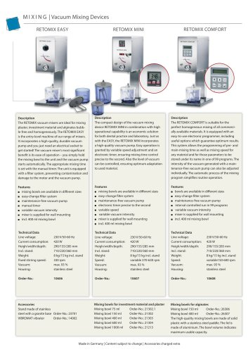 RETOMIX Mixing Devices