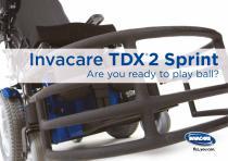 INVACARE - TDX2 SPRINT - BROCHURE - SPORTS - POWERWHEELCHAIR