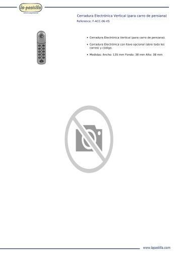 CERRADURA ELECTRÓNICA VERTICAL (PARA CARRO DE PERSIANA)