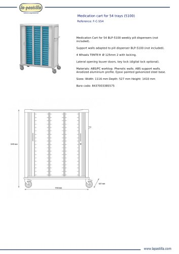 MEDICATION CART FOR 54 TRAYS