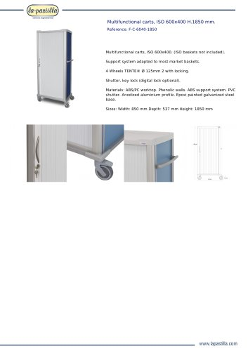 MULTIFUNCTIONAL CARTS, ISO 600X400 H.1850 MM.