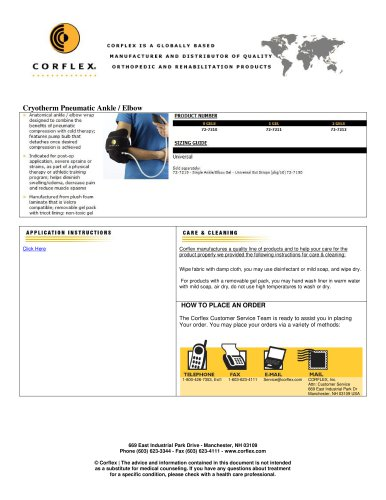 Cryotherm Pneumatic Ankle / Elbow
