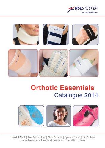 Orthotic Essentials Catalogue 2014