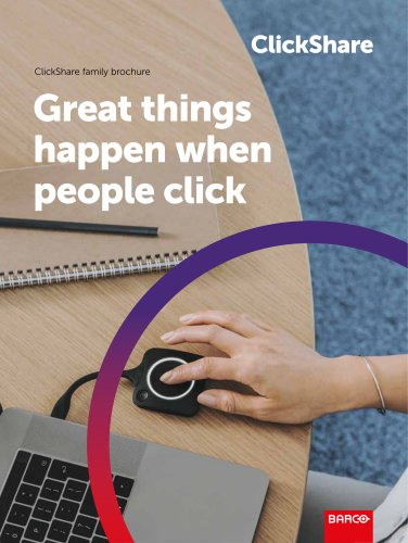 ClickShare family brochure
