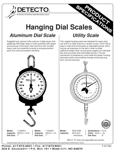 11S Series, Dial