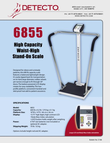 6855 Bariatric Scale Bulletin