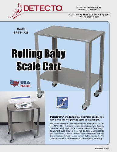 Rolling Baby Scale Cart