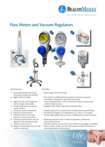 Flow Meters and Vacuum Regulators HTM/ISO Brochure