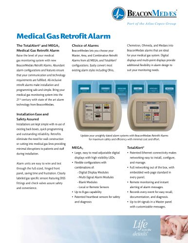 Medical Gas Retrofit Alarm
