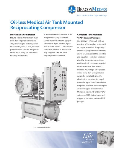 Oil-less Medical Air Reciprocating Compressors
