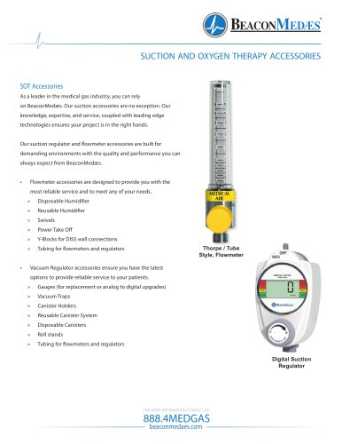 Suction and Oxygen Therapy Accessories