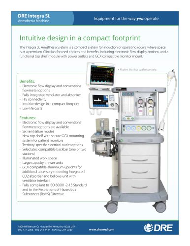 DRE Integra SL Anesthesia Machine