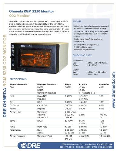 Refurbished - Ohmeda 5250 CO2 Monitor