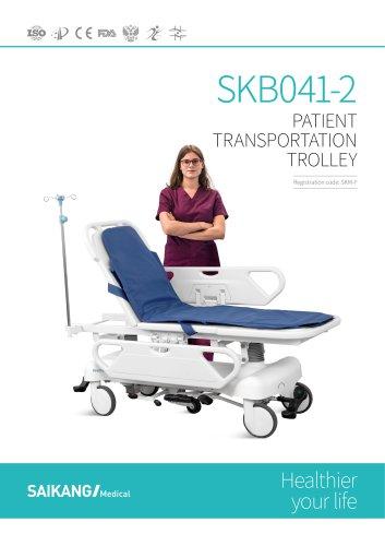 SKB041-2 Patient-Transportation-Trolley_SaikangMedical
