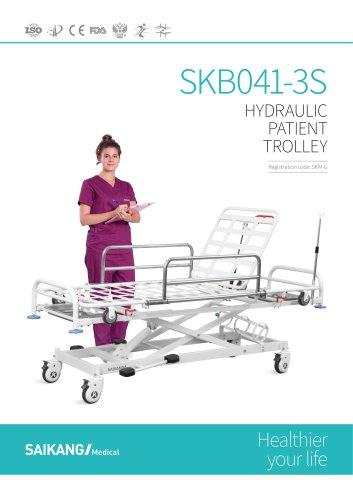 SKB041-3S Hydraulic-Patient-Trolley_SaikangMedical