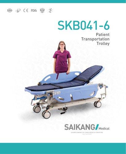 SKB041-6 Patient-Transportation-Trolley_SaikangMedical