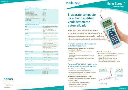 Echo-Screen Brochure