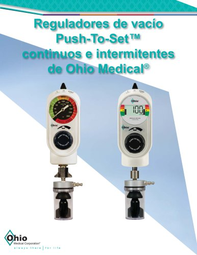 Reguladores de vacío Push-To-Set™ continuos e intermitentes