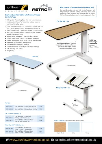 Astro Overbed Table