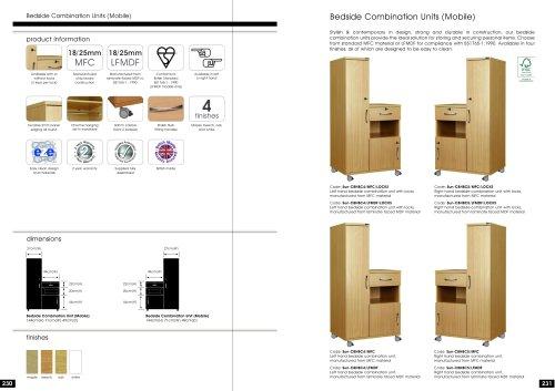 Bedside Combination Units