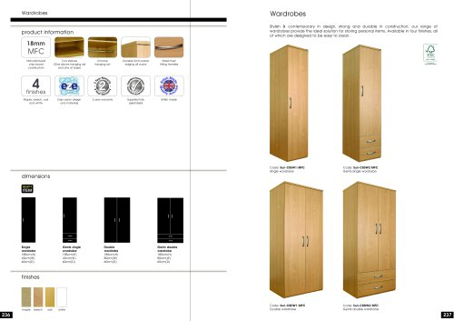 Single and Double Wardrobes