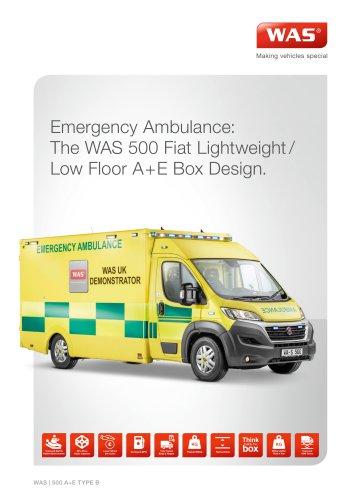 Emergency Ambulance: The WAS 500 Fiat Lightweight/ Low Floor A+E Box Design