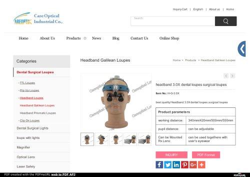 Headband Galilean Loupes