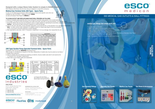 Medical Gas Outlets & Wall Fittings
