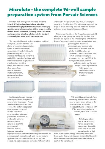 Microlute Sample Preparation System Flyer