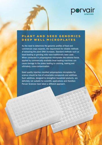 Porvair seed genomics plates flyer