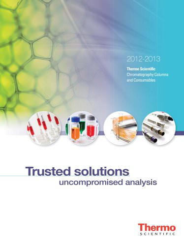 2012-2013 Chromatography Columns and Consumables Catalog for Sample Preparation Products