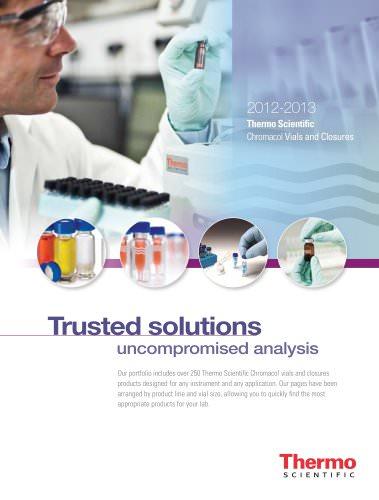 Chromacol Vials and Closures Catalog 2012-2013