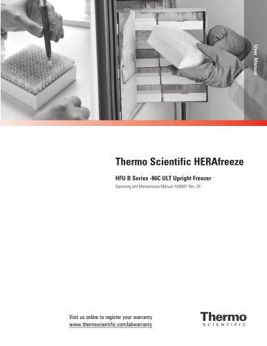 HERAfreeze HFU B Series -86C ULT Upright Freezer