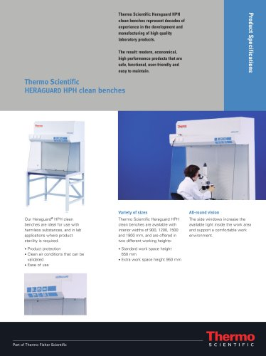 HERAGUARD HPH clean benches