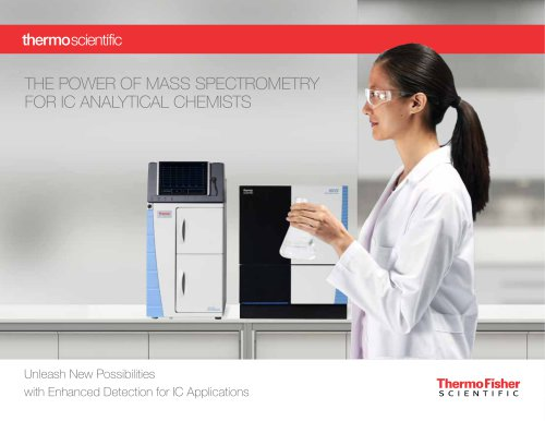 The Power of Mass Spectrometry for IC Analytical Chemists – Unleash New Possibilities with Enhanced Detection for IC Applications
