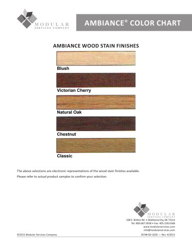 AMBIANCE ®  COLOR CHART